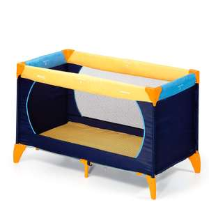 Hauck Dream-n-Play Travel Cot with Folding Mattress, 60 x 120 cm, Yellow £28.49 @ Amazon