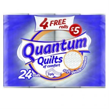 Quantum Quilts Toilet Tissue 24 Rolls £5 at Poundland