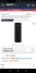 UE Boom 2, £65.99 at Teco Buy, few colours available for 74.99, Megaboom different colours for 89.99 @ Amazon
