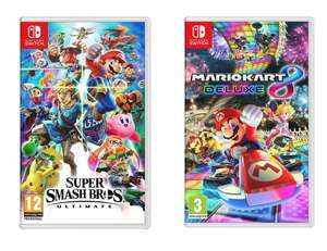 Super Smash Bros Ultimate and Mario Kart 8 Deluxe : Nintendo Switch  bundle £79.99 @ Currys