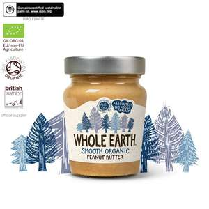 Whole Earth Peanut Butter - Smooth Organic 6 X 227G @ Amazon £6.38 Prime £10.87 non prime