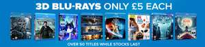 3D Blu Rays only £5 @ zoom.co.uk