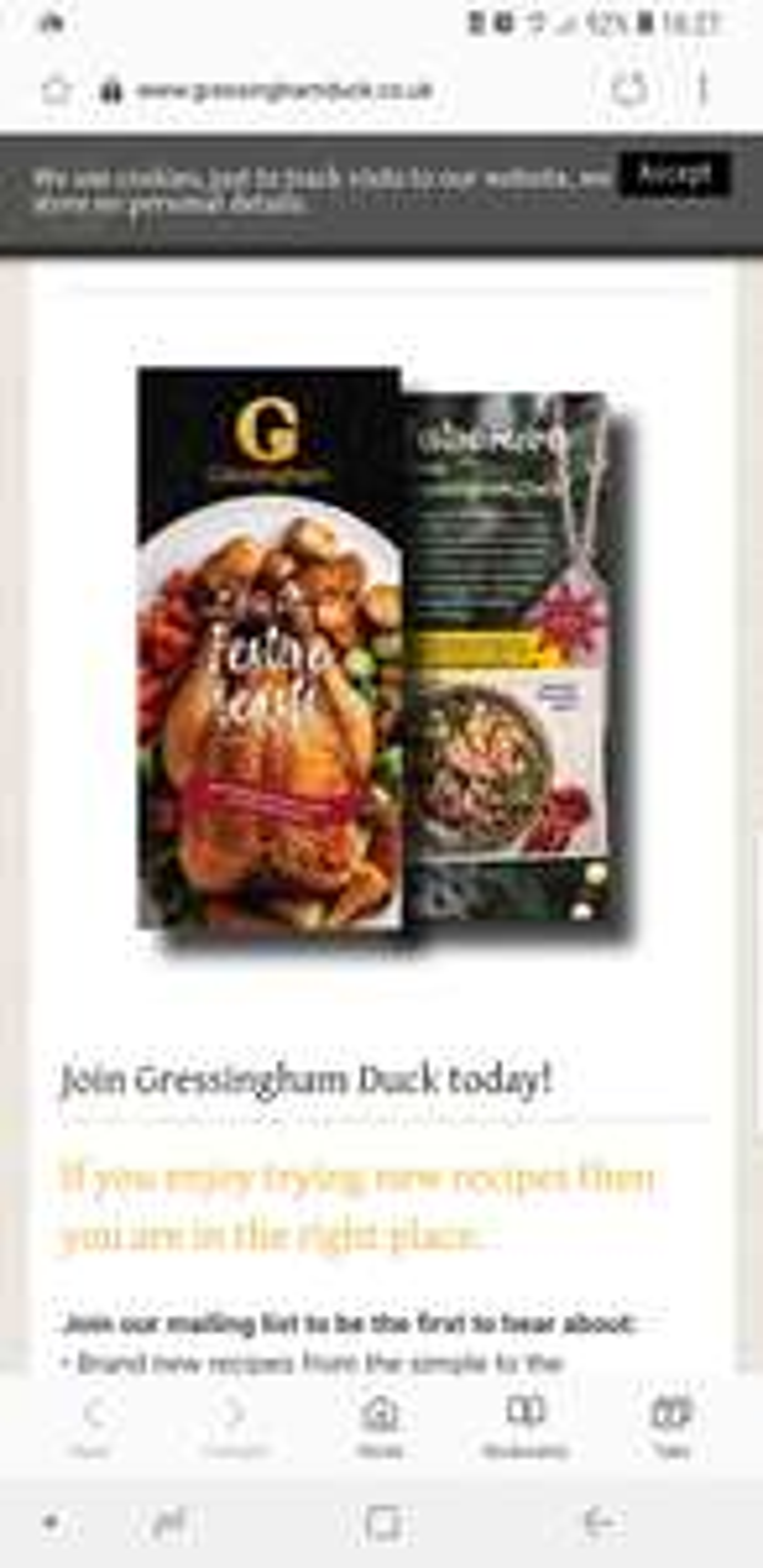 Free Gressingham Christmas Recipe Book