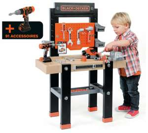 Smoby Star Giant Black & Decker Workbench Reduced to £34.99 (Now also available on Amazon Prime!) (Free C&C) @ Argos