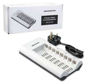 8 Bay NiMH Mains Battery Charger for AA and AAA Batteries £4.99 delivered @ 7DayShop
