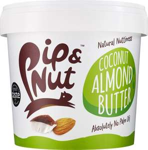 Pip & Nut Coconut Almond Butter – 1kg – Absolutely No Palm Oil – No Refined Sugar  £8.99 + £4.49 delivery (Non Prime) @ Amazon