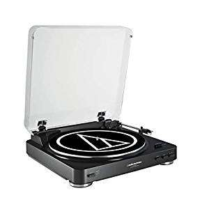 Audio-Technica AT-LP60BKU Fully Automatic Belt-Drive Stereo Turntable  £79 @ Amazon