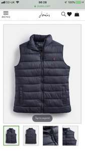 Joules gilet reduced to £24.95 and free delivery at Joules