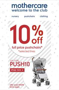 10% off pushchairs @ Mothercare