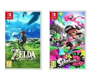 Nintendo The Legend of Zelda: Breath of the Wild & Splatoon 2 £79.99 Free C&C / In-Store @ Currys