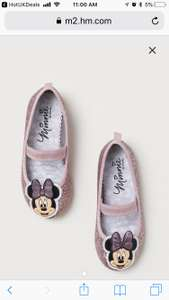 Minnie Mouse Glittery ballet pumps at H&M free delivery - £5.59 with code