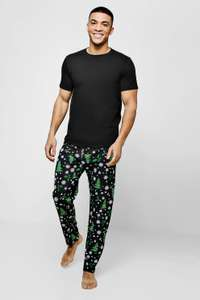 Christmas Tree Print Pyjama Set £14.00 (30%off) at Boohoo man Free Next Day Delivery Use Code MAN30D