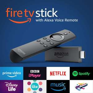 Fire TV Stick with Alexa Voice Remote | Streaming Media Player at Amazon UK - £22.22 (See OP)