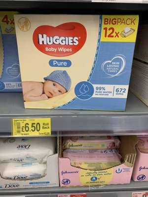 Huggies pure baby wipes 12 x56 - £6.50 @ ASDA