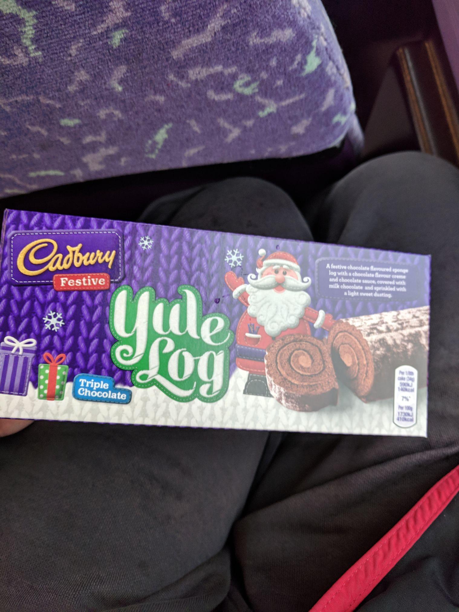 Cadbury Yule Log 65p at Heron Foods (Short dated)