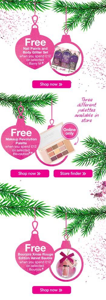 Free gift when spending £12 on Bourjois/Revolution or Barry M @ Superdrug