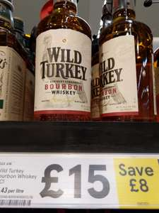 Wild Turkey bourbon whiskey £15 @ Amazon and Tesco