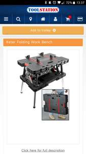 Ketter work bench at Toolstation for £54.99