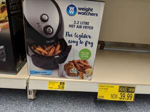 Weight Watchers Hot Air Fryer was 49.99 now 39.99 @ B&M (includes recipes)