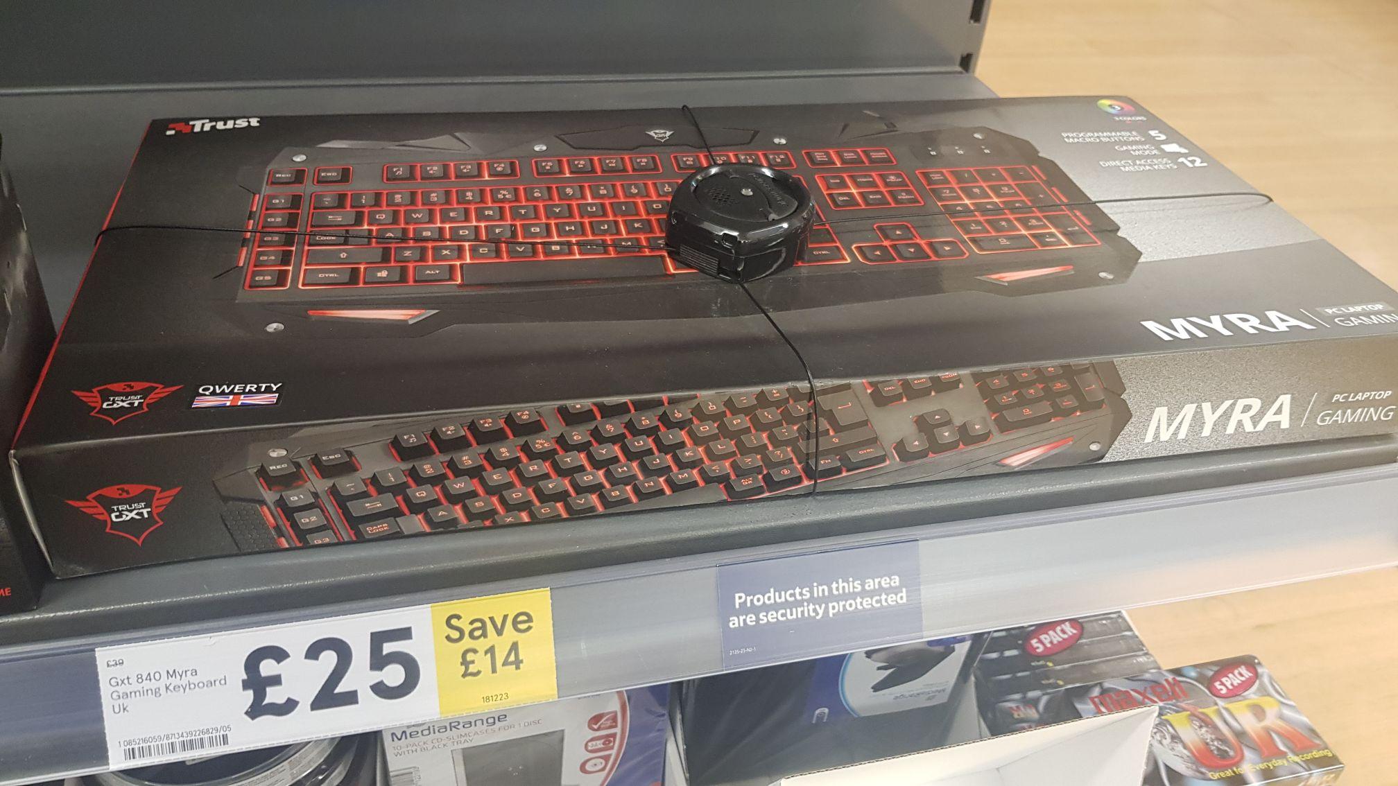 Trust 840 MYRA Gaming keyboard - £25 @ Tesco