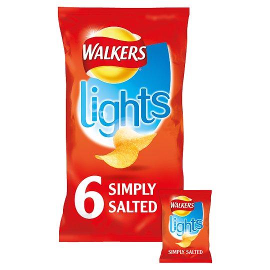 Walkers Lights Crisps - Simply Salted (6x24g) @ Heron Foods