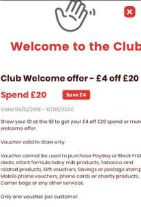 Bargain Booze £4 off first £20 spend in store