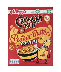 Crunchy Nut Peanut Butter Clusters 525 g, Pack of 5 - £7.50 (Prime) + £4.49 delivery (Non Prime) @ Amazon