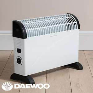 Daewoo 2000W Convector Heater £12.99 @ Home Bargains