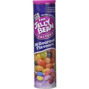 The Jelly Bean Factory Tube 100g, 36 Gourmet flavours only £1 in store Great Stocking Filler @ Poundland