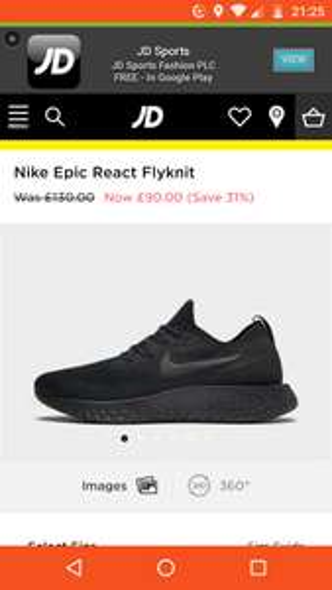 Nike React £90 @ JD Sports