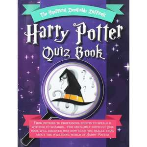 The Unofficial Devilishly Difficult Harry Potter Quiz Book £2.25 C+C With Code The Works