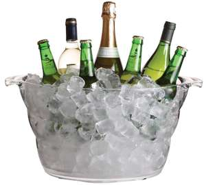 KitchenCraft BarCraft Large Drinks and Wine Cooler, Ice Bucket, Acrylic,  £11.99  @ Amazon Prime / £16.48 non Prime