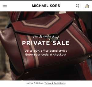 Up to 50% off Michael Kors!