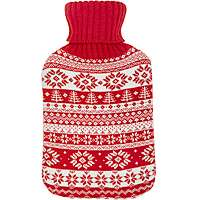 Hot Water Bottle with Snowflake Knitted Cover £4.00 @ Asda ( Free C&C)