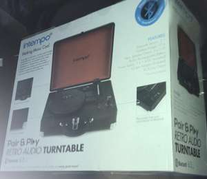 Intempo Bluetooth retro turntable B&M £1 - Altrincham Manchester