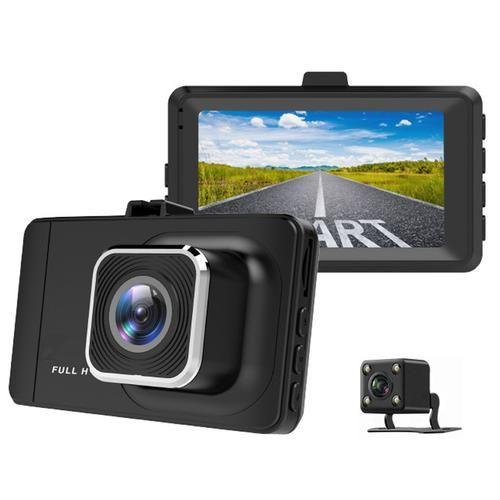 WDR 1080p Car Dash Cam Dual Lens + Rear Camera - Black £19.99 @ MyMemory