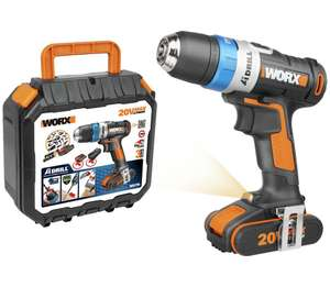 WORX WX178 Max AI 2Ah Li-Ion Cordless Drill Driver - 20V ( with code) + 3 Years Guarantee free Delivery £35.99 @ Argos ebay