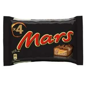 4 Full Size Mars or Snickers Bars 89p @ Poundstretcher