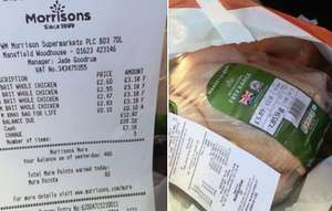 Morrisons Chicken price GLITCH £3.18 instore