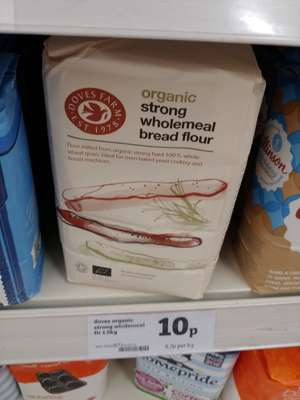 In Store Doves Farm Organic Strong Wholemeal Flour 1.5kgfor 10p - Sainsbury's