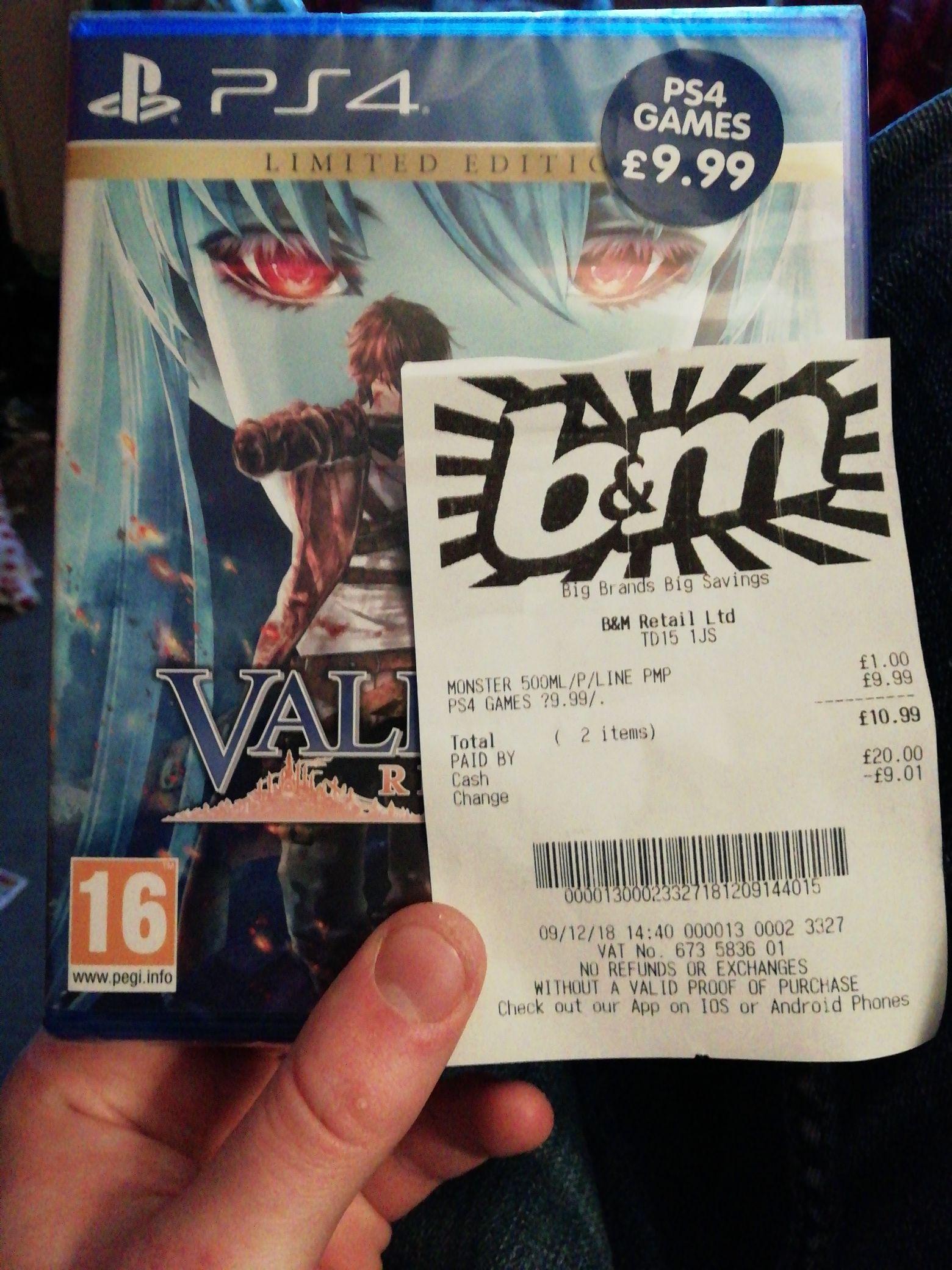 Selection of PS4 games £9.99 - B&M instore Berwick