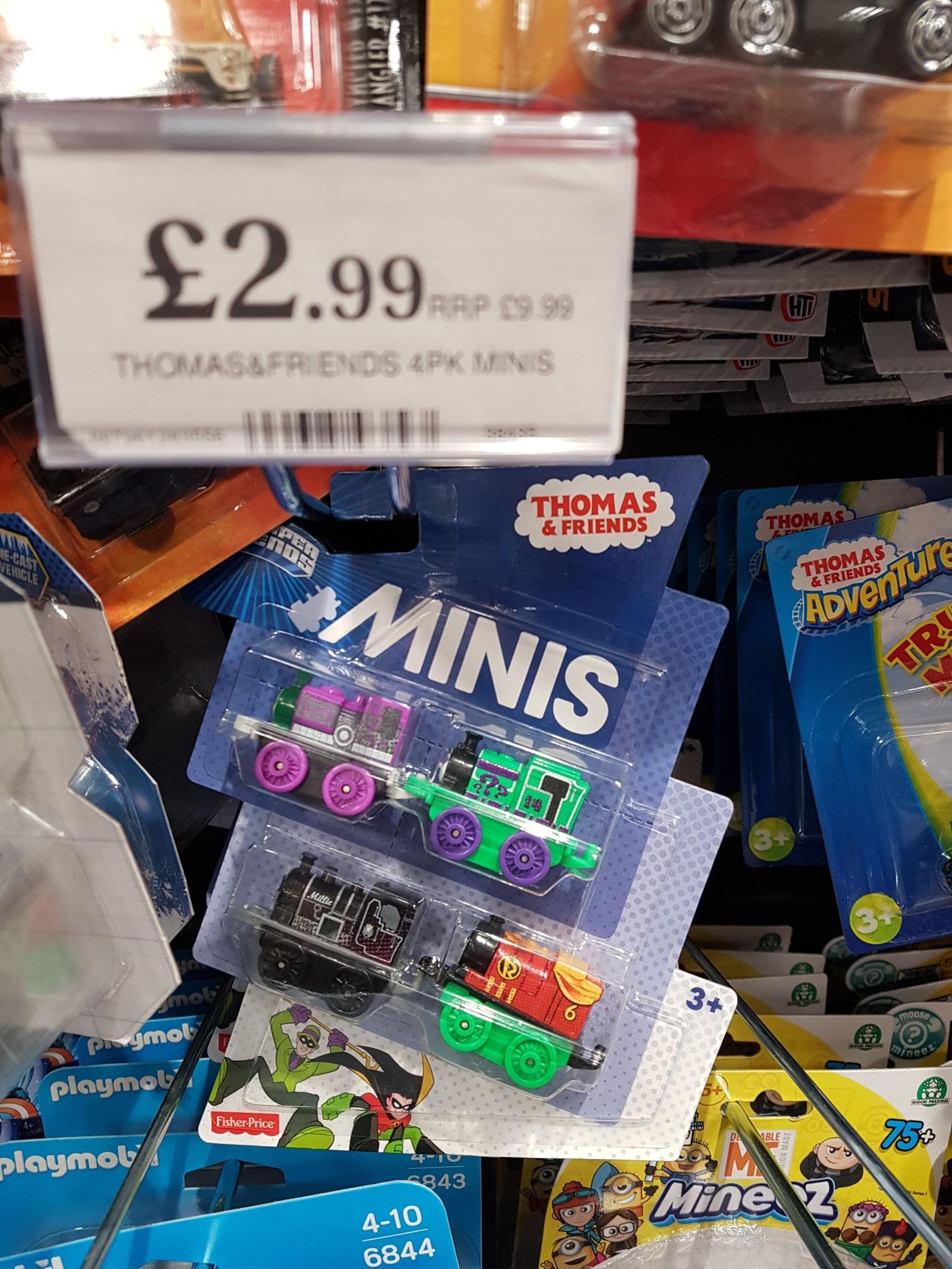 Thomas & Friends DC Comics Minis 4 Pack - £2.99 instore @ Home Bargains