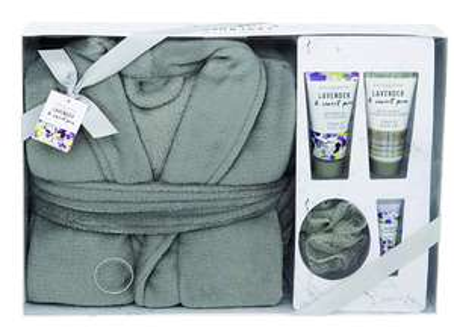 Body Collection Bath Robe Set, Lavender and Sweet Pea £4.99 del Amazon Prime .