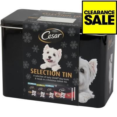 Christmas Cesar Gift Tin with Dog Food & Treats (11 items) & Sheba Gift Tin Cat Food & Treats (20 items) - in-store £4.79 each  @ JTF