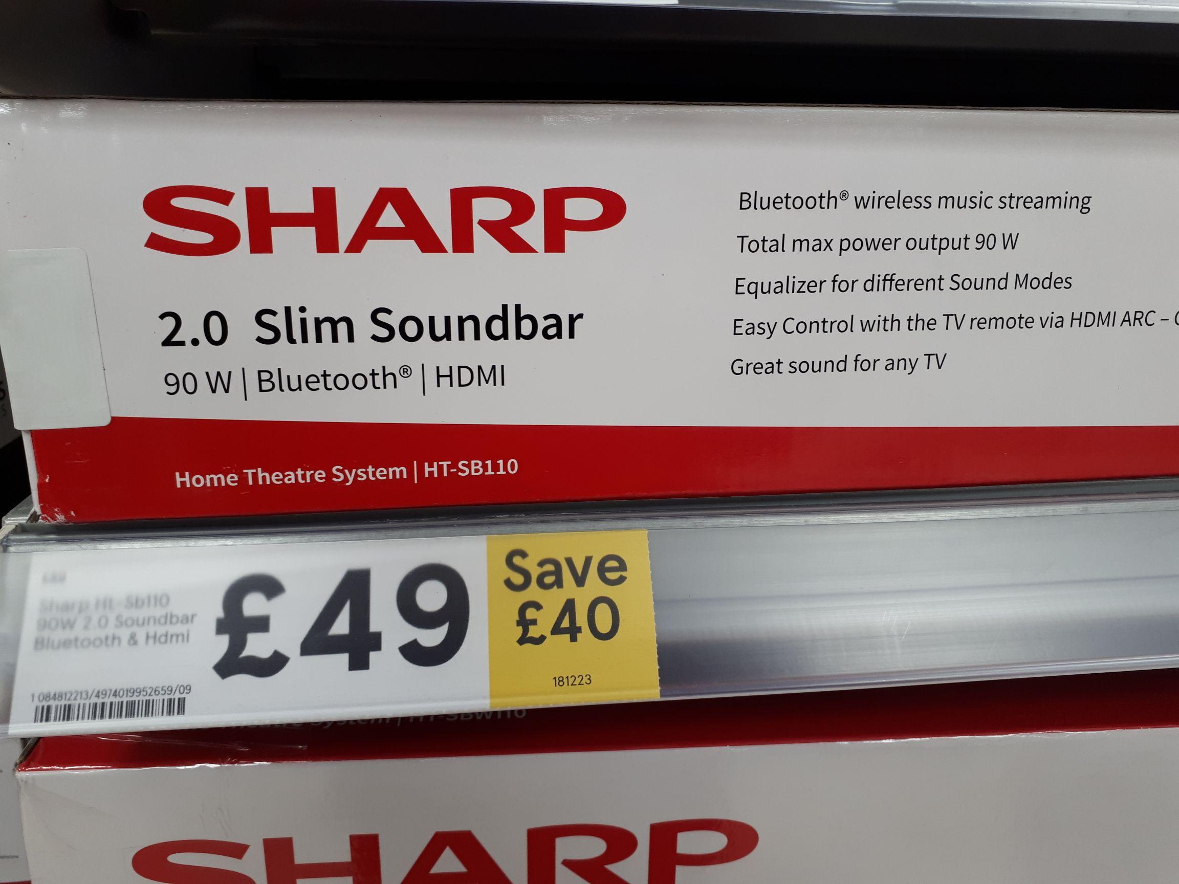 Sharp Ht-sb110 soundbar - Save £40! £49 instore @ Watford Tesco Express