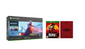 Xbox One X Gold Rush Edition Battlefield V or Fallout 76 £356.52 (Quantity method) or with Red Dead Redemption 2 SteelBook £399 @ Amazon 