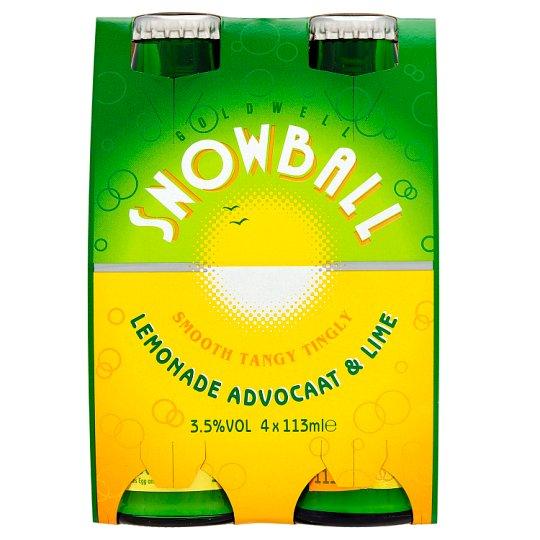 Snowball Advocaat drink £3 per pack 2 packs £5 = 8 bottles @ Tesco