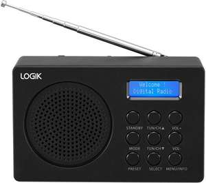 LOGIK L2DAB16 Portable DAB/FM Radio and Free 3 Month Deezer Subscription £15.99 w/code at Currys