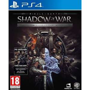 Middle Earth : Shadow of War Siver Edition [PS4] £10.95 @ The Game Collection