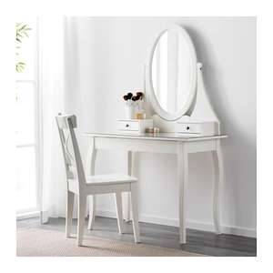 HEMNES Dressing table with mirror White/Grey for £129 @ IKEA (IKEA Family Member Price)
